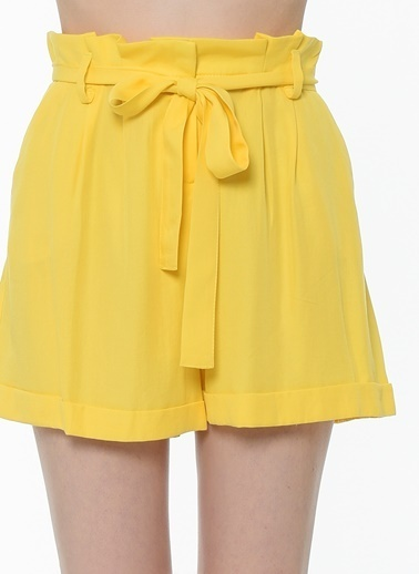 Twist Şort Sarı